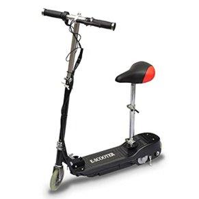 Patinete eléctrico con sillín, patinete eléctrico plegable – con neumáticos de 5,5 pulgadas, 12 km/h, 120 W, portátil y…