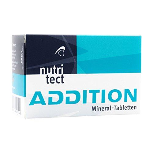 nutritect ADDITION Mineral-Tabletten - Elektrolyte zum Ausgleich deiner Mineralstoffverluste beim Sport | 100 Tabletten
