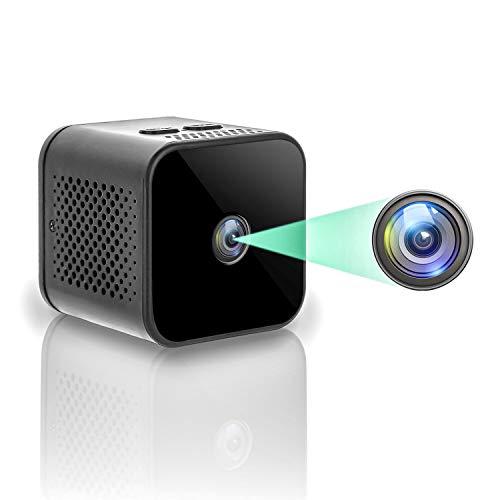 Microcamere Spia, HD 1080P Mini Telecamera Spia Nascosta WiFi IP Wireless Portatile Videocamera con Rilevazione di Movimento e Visione Notturna, per IOS/Android (solo 2.4G)