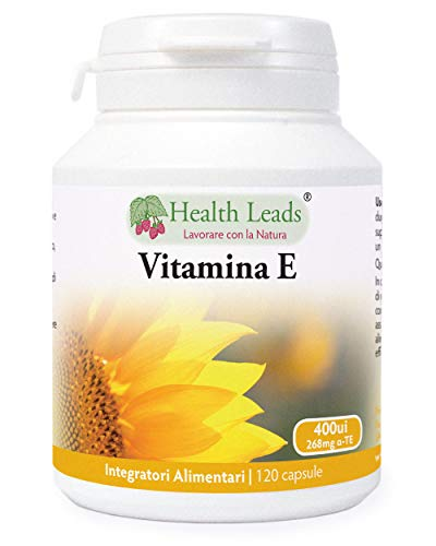 Vitamina E 400 ui x 120 Capsule (Nessun stearato di magnesio)