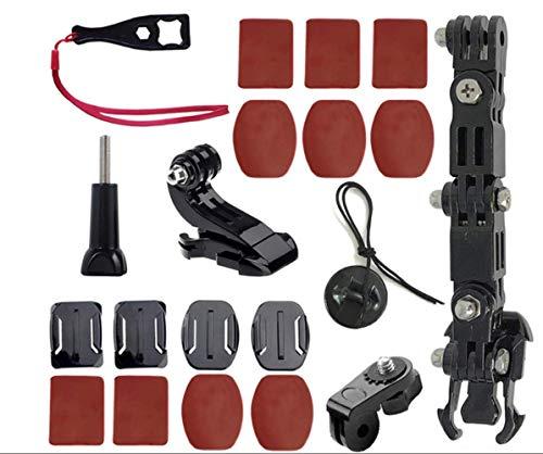 ShipeeKin Supporto per casco da moto compatibile con GoPro Hero 8/7/6/5/4 4+ 3 Series e altre Action Cam