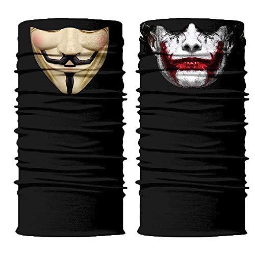 ShopINess Pack Scaldacollo Multifunzione - Joker+Vendetta