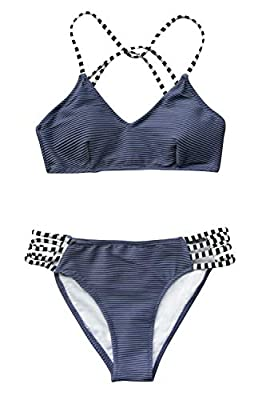 Special top fabric: 90% Polyester, 10% Spandex; Bottom fabric: Chinlon Self tie straps, Low waist fit, Lined, Textured fabric About Cup Style: With Padded cups Garment Care: Hand Wash and Hang Dry. Recommend with Cold Water. Do not Use Bleach. Body s...