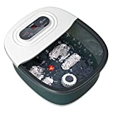 Foot Spa Bath Massager with Heat, Bubbles, Vibration and Red Light,4 Massage Roller Pedicure Foot Spa Tub for...