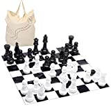 Garden Chess Set 30 Centimetres Tall Giant Garden Game with 1.2 Metre Square Mat