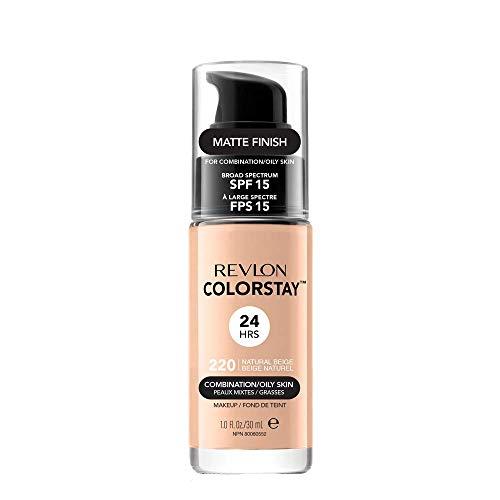 REVLON Fond de Teint ColorStay Peaux Mixtes à Grasses N°220 Natural Beige - 30 ml