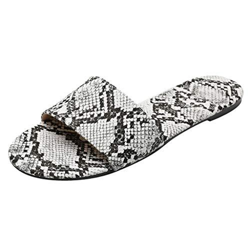 Dorical Damen Sandalen Hausschuhe Weiche Indoor/Outdoor Pantoffeln,Mutter rutschfeste Sandaletten 36-42 EU(Weiß,41 EU)