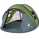 4 Person Easy Pop Up Tent,9.5'X6.6'X52'',Waterproof, Automatic Setup,2 Doors-Instant Family...