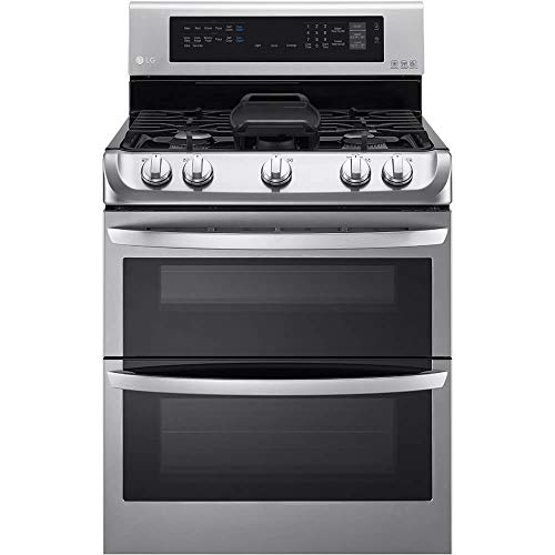 LG LDG4315ST 30' Freestanding Double Oven Gas Range with 6.9...