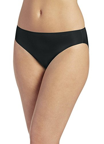 Jockey Women's No Panty Line Promise Tactel Bikini Black Bikini 7 (XL)