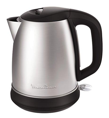 Moulinex Subito Select BY550D Hervidor Eléctrico 2400 W con 1.7 L de Acero Inoxidable, indicador de Nivel de Agua, Tapa con bisagras de Apertura, Filtro antical extraíble y de Color Negro, 1.7 litros