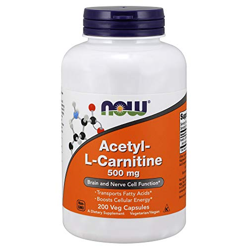NOW® Acetyl-L-Carnitine, 500 mg, 200 Veg Caps