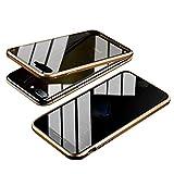 iPhone 7 Plus/iPhone 8 Plus ケース 両面強化ガラス 覗き見防止 iPhone7Plus iPhone8Plus ガ……