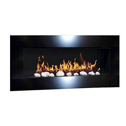 Ethanol Fireplace Gel, Fireplace Stove, Wall Fireplace Design Don Fuego XXL and 24 Decorative Stones