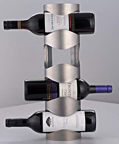 Disha Wine O - Stainless steel Wine Bottle Holder - 4 racks
