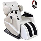 Massage Chair- SUNCOO Deluxe Electric Massage Chairs Full Body and Recliner with Music Player, Heated Shiatsu Massage Zero Gravity Recliners with Headphone, Air Bags, Foot Roller, LCD Remote
