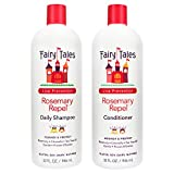 Fairy Tales Rosemary Repel Daily Kids Shampoo- Lice Shampoo for Kids & Kids Hair Conditioner for Lice Prevention (Combo, Pack 2 - Shamp + Cond 32oz)