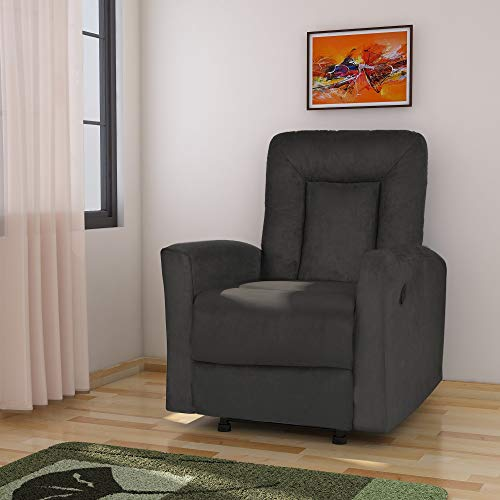 @home by Nilkamal Gretel Single Seat Recliner (Grey)