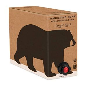 Wandering Bear Extra Strong Organic Cold Brew Coffee On Tap, Straight Black, 96 fl oz - Smooth, Unsweetened, Shelf… 1
