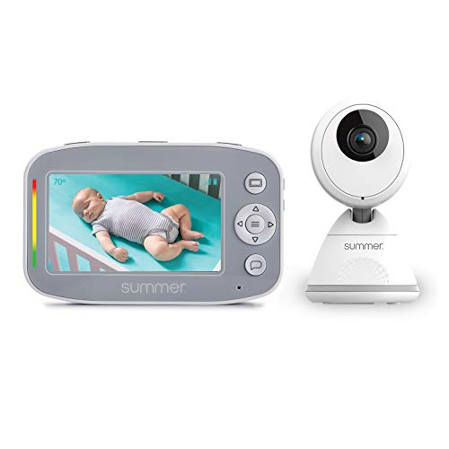 Summer Baby Pixel Cadet Video Baby Monitor with 4.3-Inch Color Display, Remote Steering Camera – Baby Video Monitor with Clearer Nighttime Views and SleepZone Boundary Alerts