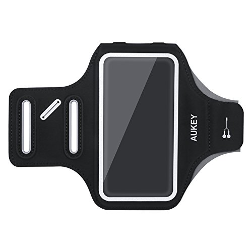 AUKEY Armband, Water Resistant Sports Armband with Key Holder (4.7-Inch) Compatible for Galaxy S6 S5 S4 and More