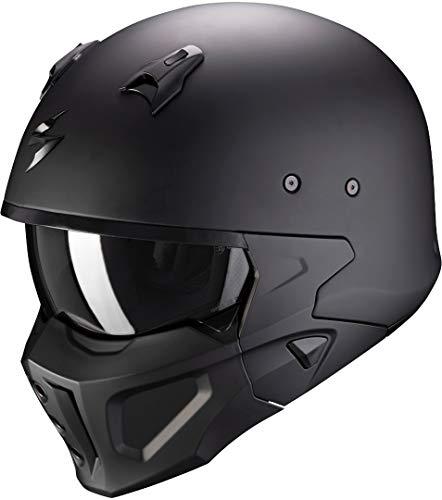 SCORPION Covert X Solid Casque DE Moto Hommes, Noir Mat, M