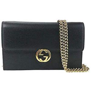 Gucci Emily Guccissima Leather Hobo Handbag 322226 Black Bag 12