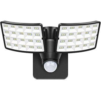 20W Projecteur LED exterieur Détecteur de Mouvement, 2400LM Spot LED Extérieur Avec Détecteur, 5000K Lampe de sécurité, Etanche IP65 Eclairage Exterieur led Avec Détecteur pour Jardin, Garages, entrée