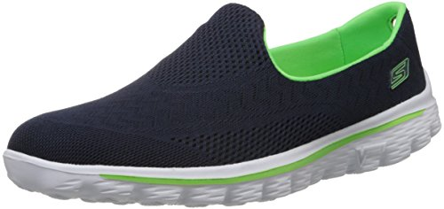 Skechers Women's Navy Blue and Green Nordic Walking Shoes - 5 UK/India (38 EU) (8 US)