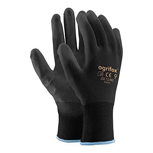 Ogrifox OX-Poliur_Bb9 OX.12.442 - Guanti protettivi da lavoro in poliestere, confezione da 24,...