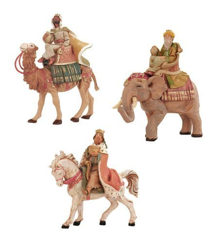 3-Piece Fontanini 5' Three Kings On Animals Christmas Nativity Set #65244 by Roman