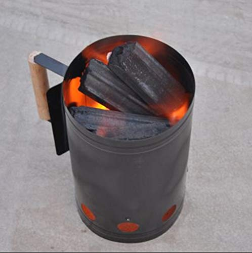 Krevia BBQ Grill Charcoal Chimney Starter Barbecue Rapid Fire Stove For Camping Grilling, 1(Piece,...