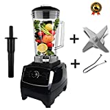 BPA free 2200W Heavy Duty Commercial Blender Professional Blender Mixer Food Processor Japan Blade Juicer Ice Smoothie Machine,Black blade tool