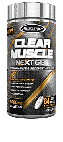 MuscleTech Clear Muscle Next Gen Post Workout Muscle Recovery Supplement, Accelerate Muscle Recovery & Reduce Muscle Breakdown, 84 Servings (84Count)