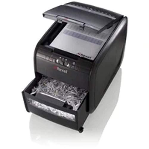 Rexel Auto+ 60X Aktenvernichter für Kleinbüros, Partikelschnitt, Autofeed, 15L Abfallbehälter, 60 Blatt Kapazität, Schwarz, 2103060EU