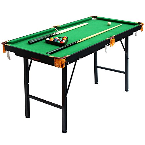 IRIS Folding Miniature Billiards Pool Table w/Cues and Balls