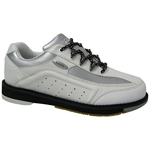 Elite Platinum White Right Hand Bowling Shoes - Womens 9