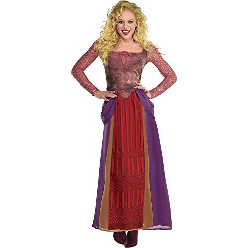 Party City, Sarah Sanderson Halloween Costume for Women, Hocus Pocus, Small/Medium, Dress with Faux Bodice