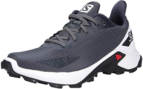 Salomon Alphacross Blast Women's Trail Running Shoes, Grey (India Ink/White/Black), 6 UK