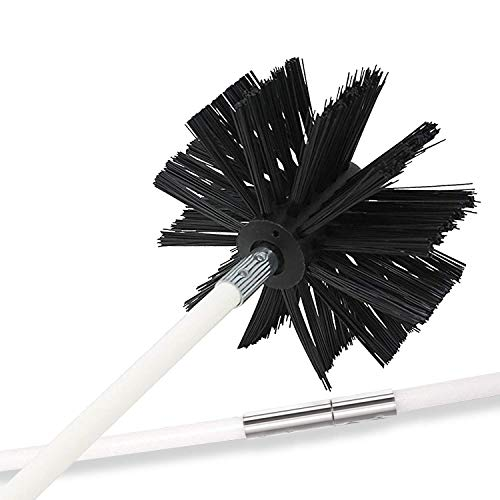 Holikme 30 Feet Dryer Vent Cleaning Brush, Lint Remover, Extends Up to 30 Feet, Synthetic Brush Head, Use with or Without a Power Drill