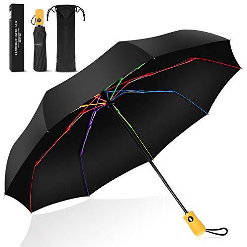 Parapluie Pliant, Parapluie Pliable Automatique Ouverture et Fermeture...