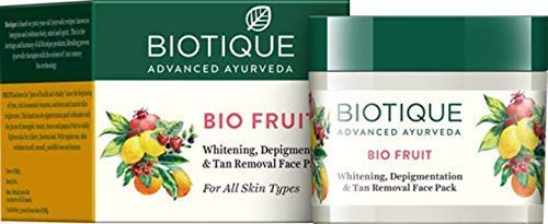 Biotique Bio Fruit Whitening & Depigmentation & tan removal Face Pack 75G/2.65 Fl.Oz. I For All Skin Type