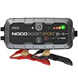NOCO Boost Sport GB20 500 Amp 12-Volt UltraSafe Lithium Jump Starter Box, Car Battery Booster Pack, Portable Power Bank Charger, and Jumper Cables For Up To 4-Liter Gasoline Engines