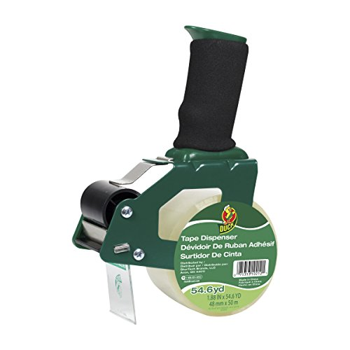 Duck Brand Standard Tape Gun with Foam Handle, Includes 1 Roll of 54 Yard Standard Tape (669332)