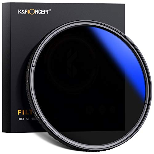 K&F Concept 77mm ND Fader Variable Neutral Density Filter ND2 to...