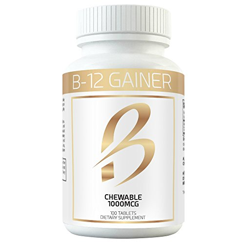 Gain Weight Fast w Weight Gainer B-12 Chewable Absorbs Faster Than Weight Gain Pills for Fast Massive Weight Gain in Men and Women While Opening Your Appetite More Than Protein 1