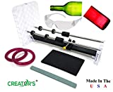 Creator's Glass Bottle Cutter Machine Kit - Home Entertainment System - Made In The USA Pro Quality - Includes Carbide Head, Ruler, Ball Bearing Rollers, Safety Glasses - Craft Beer/Liquor/Wine Bottles
