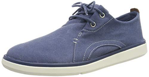 Timberland Gateway Pier Casual, Zapatos de Cordones Oxford Hombre, Azul Dark Blue Canvas, 46 EU