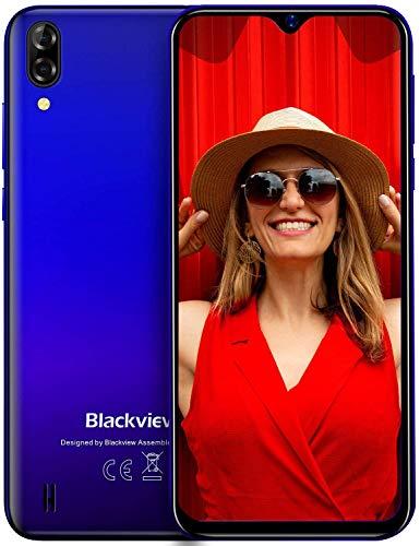 Telephone Portable Pas Cher, Blackview® A60 Smartphone Débloqué (Ecran Waterdrop 6.1 Pouces, 13MP+2MP+5MP, 16Go ROM-Extensible 128Go, 4080mAh Batterie, Android) Telephone Portable Debloqué, GPS/WiFi