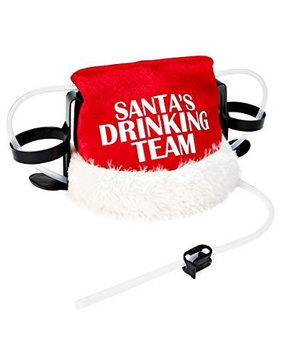 Spencer Gifts Santa's Drinking Team Drinking Hat